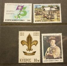 OLD BOY SCOUT GIRL GUIDE STAMP COLLECTION, CYPRUS COLLECTION OF 4 MINT
