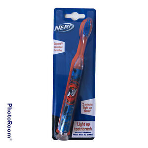 Nerf Light Up Timer Kids Toothbrush Battery Operated