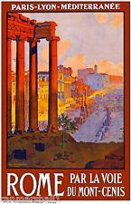 Rome Italia Italy Vintage European Travel Advertisement Poster Picture Print