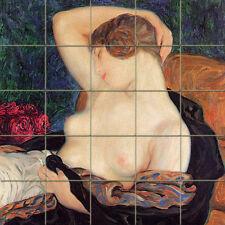 Art Deco Nude Mural Ceramic Backsplash Tile #438