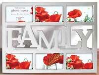 Fotorahmen Collage Family Weiß - 6 Fotos 10x15 cm - Bilderrahmen Fotogalerie