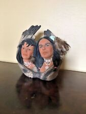 Rare Native American Pottery Beautiful Collectable Faces Signed Exc Condition