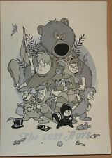 """TYLER STOUT """"The Lost Boys"""" DISNEY PETER PAN SILVER VARIANT PRINT 7 X 10 INCHES"""