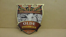 Milestone Olde English Ale Beer Pump Clip face Bar Pub Collectible 26