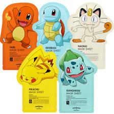 [Tony Moly] Pokemon All Kinds Facial Masks Sheet Pack Korean 5ea Set
