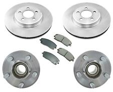 Front Bearings Rotors Pads Fits Charger 05-11 Rear Wheel Drive & Rr Solid Rotor