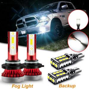 For Dodge RAM 1500 2500 3500 2010 2011 2012 LED Fog Light + Backup Reverse Bulbs