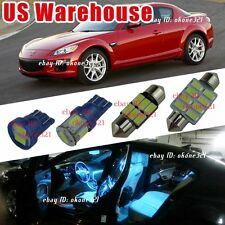 12-pc Aqua Blue LED Lights Interior Package Dome Map Kit For 04-11 Mazda RX-8