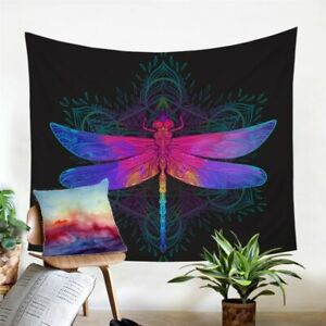 Dragonfly Mandala Insect Wall Tapestry Hanging Throw Cover Home Room Decoration