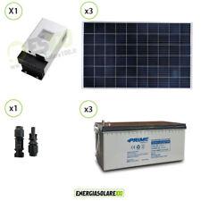 Kit solar videovigilancia exteriores panel solar 600W 12V para 10 cámaras y DVR