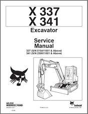 Bobcat X337 X341 Excavator Service Repair Manual On A Cd X 337 341