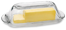Mesa Glass Butter Dish With Lid Multi-Purpose Preserving Serving Dessert Tray