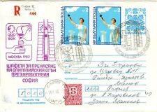 Bulgaria Olympische Spiele Olympic Games 1980 Olympic stationery Sofia flowers