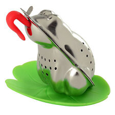 Norpro 5642 Stainless Steel Froggy Tea infuser With Lily Pad Drip Catcher