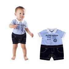 Baby Boy Romper Formal Suit Bodysuit Set Clothing Gentleman