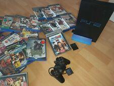 Playstation 2  PS2  inkl. 20 Spiele, 1x Kontroller, singstar 4x Buzzer