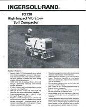 Equipment Brochure - Ingersoll-Rand - Fx130 - Vibratory Compactor - 1989 (E4749)