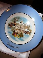 Carollers In The Snow - Avon Christmas Plate Series 5th 1977 Wedgwood England