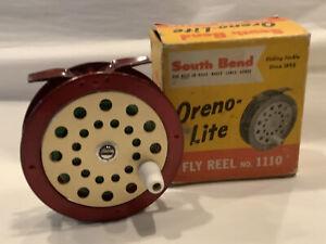 Vintage South Bend Oreno-Lite Fly Rod Reel No.1110 W/ Original Box