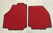 Fußmatten Autoteppiche für Ferrari 458 Spider rot Nubuk rote Ziernaht Neu Velour