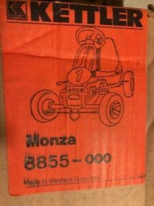 NOS Original Red & Black Kettler Kettcar Monza Pedal Car Made In Germany NOS
