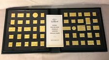 FRANKLIN MINT OFFICIAL GOLD ON SILVER PROOFS OF AMERICAS GREATEST STAMPS