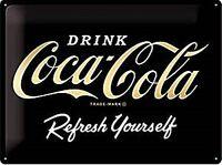 Coca Cola Refresh Selbst Geprägt Sonderedition Metall Schild 400mm x 300mm (Na )