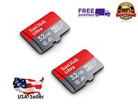 SanDisk 2 Pack Ultra 32GB SDXC UHS-I micro SD Class 10 A1 TF Flash Memory Card
