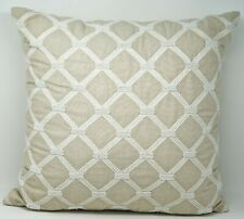 "Hotel Collection Diamond Embroidered 20"" Decorative Bed Pillow - Beige"