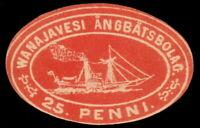 ✔️ FINLAND 1867 - STEAMSHIP STAMP 25 PENNI - #3 ** MNH OG [CRD6]