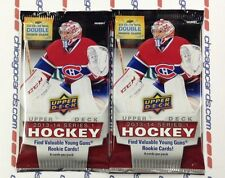 2x Lot 2013-14 2014 Upper Deck Series 1 ONE Hockey HOBBY Pack Double Rookie 16cd