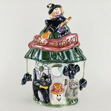 Ceramic Halloween Haunted House Tea Light-Votive Candle Holder Witch, Bats, Cat