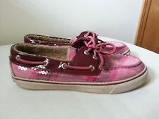 Sperry pink shoes with sequins & faux fur lining - womens 6.5 M