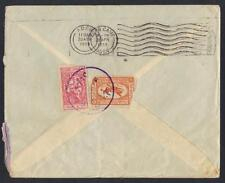 SAUDI ARABIA 1958 JIZAN SINGLE CIRCLE DATED CANCEL ON AIR MAIL CVR TO ADEN JIZAN