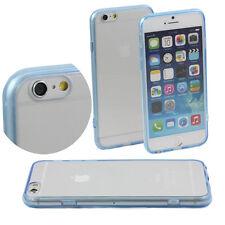 5 x LIGHT BLUE HARD BACK CASE FITS iPHONE 6 APPLE 4.7 CLEAR TPU BUMPER M46