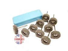METAL POLISHING KIT BF - FELT WHEELS & POLISHING COMPOUND FOR ALUMINIUM,BRASS