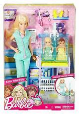 Barbie Quiero Ser Kinderärztin Puppe Blond mit Zubehör und Baby Spielzeug Kinder