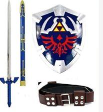 FULL SIZE Legend Of Zelda Links Hylian Shield Master Sword Combo Belt Cosplay