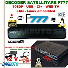 DECODER SATELLITARE HD S2 DIGIQUEST F777 LINUX,FULLHD,PVR,LAN,USB,CI,WEB TV,RCA