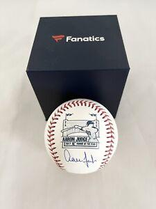 NEW YORK YANKEES AARON JUDGE signed ROY OML BASEBALL MLB AUTHENTICATED FANATICS