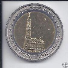 manueduc  2 EUROS ALEMANIA 2008 IGLESIA DE SAN MICHEL  NUEVA