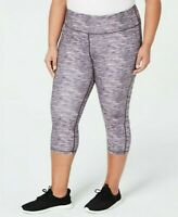 Ideology Pants Cropped Space Dye Leggings Mid Rise Gray Plus Sz 1X NEW NWT ys22