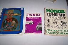 honda prelude accord civic used service manuals 3 books for 1 money
