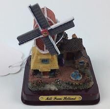 """Souvenir """"Mill from Holland"""" 3-D Resin Windmill Sculpture Stand"""
