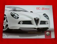 Alfa Romeo 8C Competizione Spider, RARE Owners Handbook, USA Spec Eng Text, 2009
