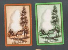 Playing  SWAP Cards 2 VINT  U.K. DECO  COTTAGE  BY  THE  WATER  AWESOME  569