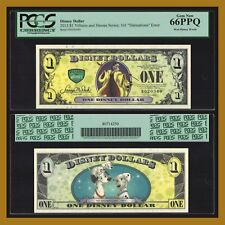 "Disney 1 Dollar, 2013 ""D"" Series 5 Digit Serial 101 Dalmatians Error PCGS 66 PPQ"