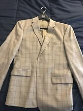 Jos A Bank Suit 40r Tan Windowpane