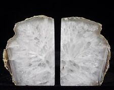 Agate Bookends Geode Crystal Polished Quartz Druzy Brazil Specimen