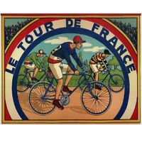 "Tour de France Board Game Bicycle Poster Fine Art Vintage Poster 24"" x 36"""